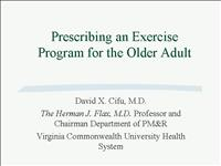 Geriatric Exercise Handout