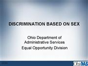 Discrimination Based on Sex