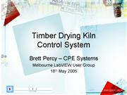 Timber Drying Kiln Control System
