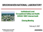 FY07 Site OSH Internal Audit Closing final rev0