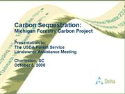 Michigan Forestry Carbon Sequestration