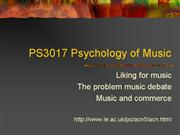 PS3017 Liking for music