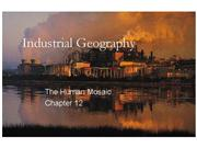 Industrial Geography Part I