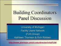 Bldg Coordinators Panel Discussion
