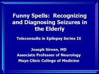 9Th Annual Teleconsults in Epilepsy Sirven