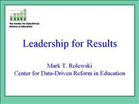 MarkRolewski Leadership for Results