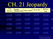 Jeopardy Review Ch 21