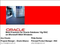ukoug 2006 best practices rac on 64 bit windows