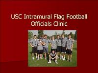 2005 Flag Football Clinic