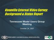 TDOT External Survey Presentation 10 24 07