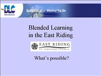 Blended Learning in the East Riding