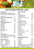 Options Price List only