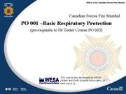 PO 001 Basic Respirator Training March 07