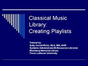 Classical Music Library Playlists