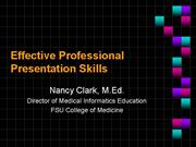 Effective Professional Presentation Skills