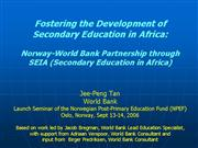 Jee Peng Norways partnership with the World Bank 1