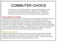 Commuter Choice PPT