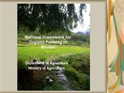 National Framework for Organic Farming Bhutan day