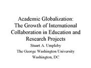 2007 WMSCI Academic Globalization
