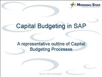 Final Capital Budgeting