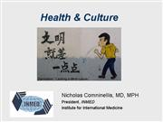 culture and health 2007