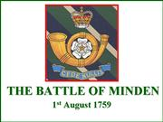 the battle of minden