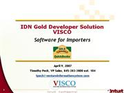 VISCO IDN Gold WebEx