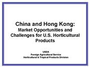 2005 China and Hong Kong Market Opportunities