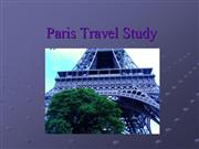 Paris Travel Study