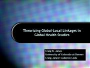 Janes theorizing global local