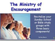 The Ministry of Encouragement PPT Bearce