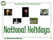 PEN 2924 National Holidays