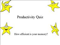 12 productivity quiz