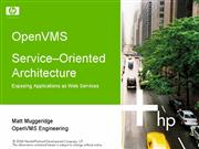 10 Web Services on OpenVMS