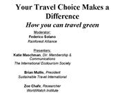 travel choices