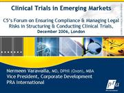 2006 12 Clinical Trials in Emerging Markets