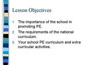 Gnl National Curriculum