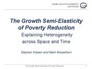 Growth Semi Elasticity of PovertyReduction