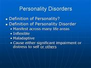 Personality Disorders Handout