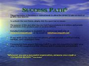 Success Path Presentation