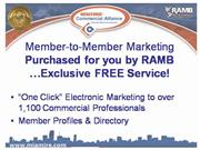 RAMBHQ Commercial Member to Member Marketing