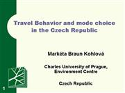 WG2 Prague 111006 Kohlova travel behav mode choice