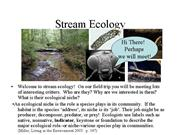 StreamEcology