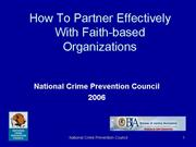 V2 How To Partner Effectively With Faith based Org