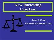 New Caselaw 2006 2007 Lessons to Be Learned