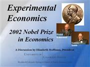 experimental economics nobel 011603