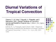 Diurnal Variations of Tropical Convection