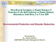 UNEP Environmental Protection and DR