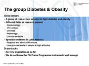 The group Diabetes obesity