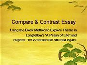 comparison contrast literary essay authorstream